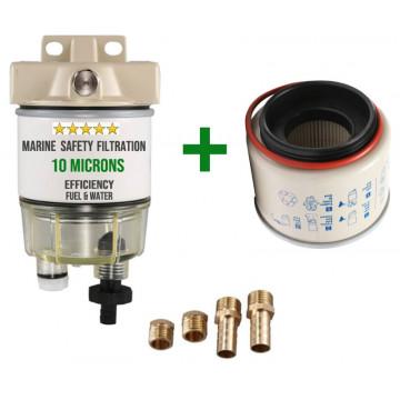 Filtro decantador / separador para motor fueraborda