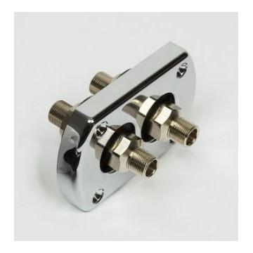 Kit de mamparo para manguera doble con accesorios premontados